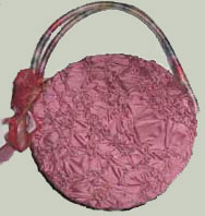 reverse of embroidered evening bag