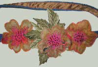 detail from hand made merino wool felt flower belt
