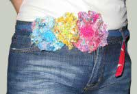 Liiberty print flower belt