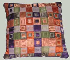 cushion with squares
